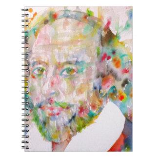 william shakespeare - watercolor portrait.1 notebook
