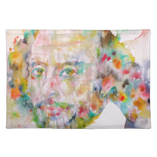 william shakespeare - watercolor portrait.1 placemat