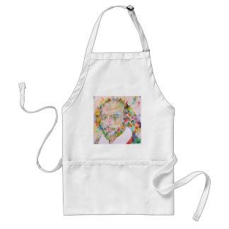 william shakespeare - watercolor portrait.1 standard apron