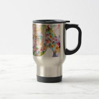william shakespeare - watercolor portrait.1 travel mug