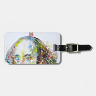 william shakespeare - watercolor portrait.2 luggage tag