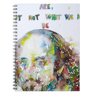 william shakespeare - watercolor portrait.2 notebook