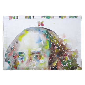 william shakespeare - watercolor portrait.2 placemat