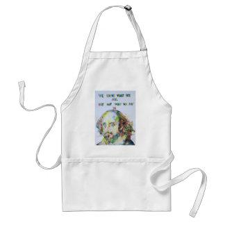 william shakespeare - watercolor portrait.2 standard apron
