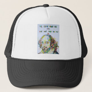 william shakespeare - watercolor portrait.2 trucker hat