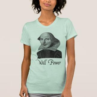 William Shakespeare Will Power Tee Shirts