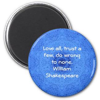 William Shakespeare Wisdom Quotation Saying Magnet