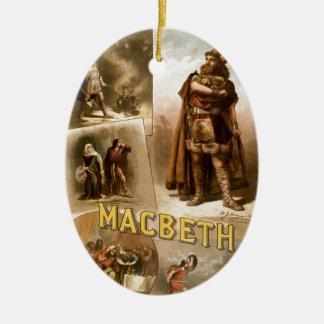 William Shakespeare's Macbeth Ceramic Ornament