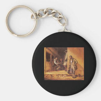 William Sidney Mount The Power Of Music Basic Round Button Key Ring