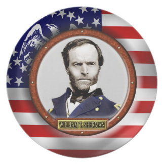 William Tecumseh Sherman Civil War Plate