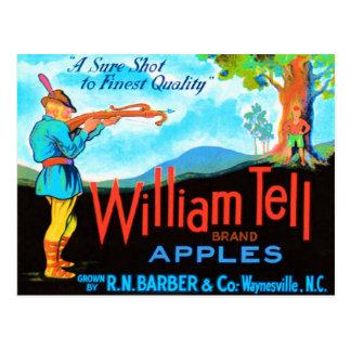 William Tell Apples Postcard