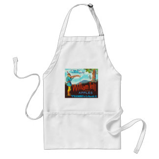 William Tell Apples Vintage Crate Label Adult Apron