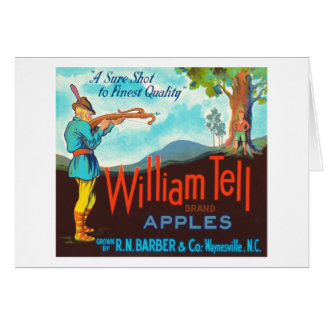 William Tell Apples Vintage Crate Label Greeting Card