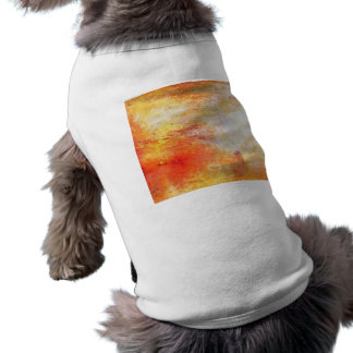 William Turner Sun Setting Over A Lake Painting Sleeveless Dog Shirt