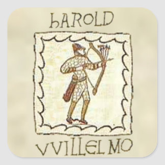 William vs Harold Square Sticker