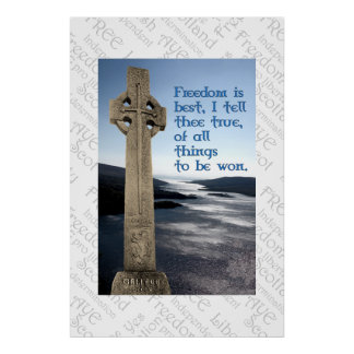 William Wallace Scottish Freedom Poster