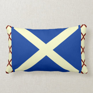 William Wallace Tartan Scottish Saltire Flag Lumbar Cushion