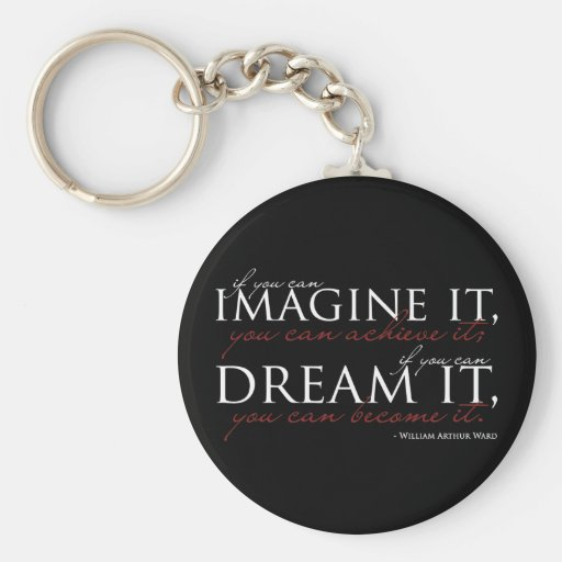 William Ward Imagine Quote Keychain