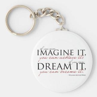 William Ward Imagine Quote Keychains
