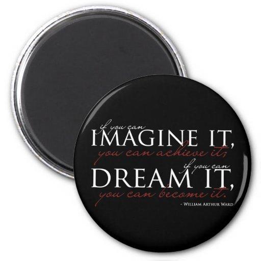 William Ward Imagine Quote Magnet