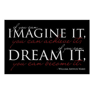 William Ward Imagine Quote Poster