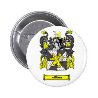 Williams Family Coat of Arms 6 Cm Round Badge