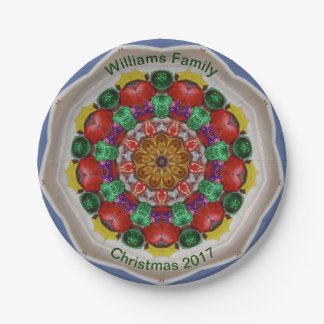 WILLIAMS FAMILY ~ Personalized Christmas Fractal ~ Paper Plate