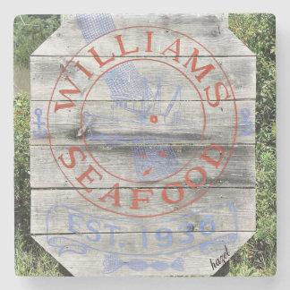 Williams Seafood, Savannah Georgia Coasters. Stone Coaster