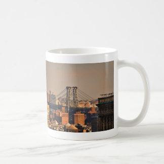 Williamsburg Bridge NYC on a cloudy day Coffee Mug