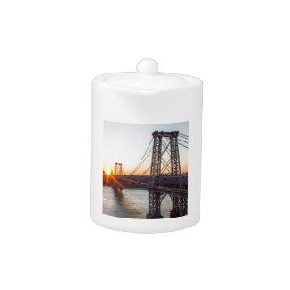 Williamsburg Bridge Sunset Brooklyn NYC