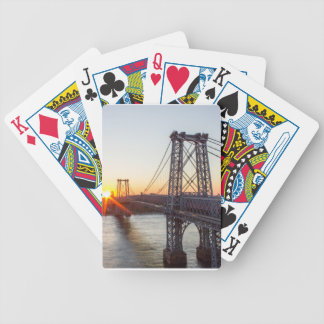 Williamsburg Bridge Sunset Brooklyn NYC Bicycle Playing Cards