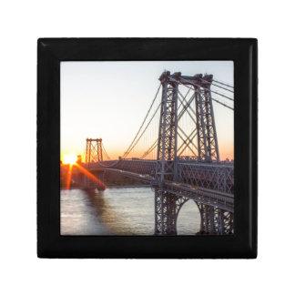 Williamsburg Bridge Sunset Brooklyn NYC Gift Box