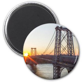 Williamsburg Bridge Sunset Brooklyn NYC Magnet