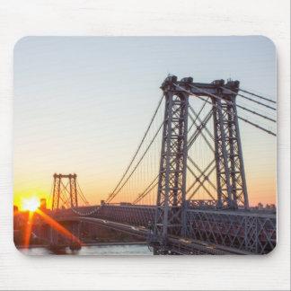 Williamsburg Bridge Sunset Brooklyn NYC Mouse Pad