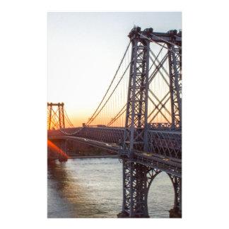 Williamsburg Bridge Sunset Brooklyn NYC Stationery