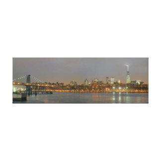 Williamsburg Bridge to Manhattan Stretched Canvas Print