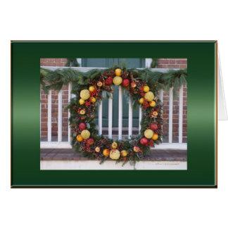 Williamsburg Fruit Wreath Card