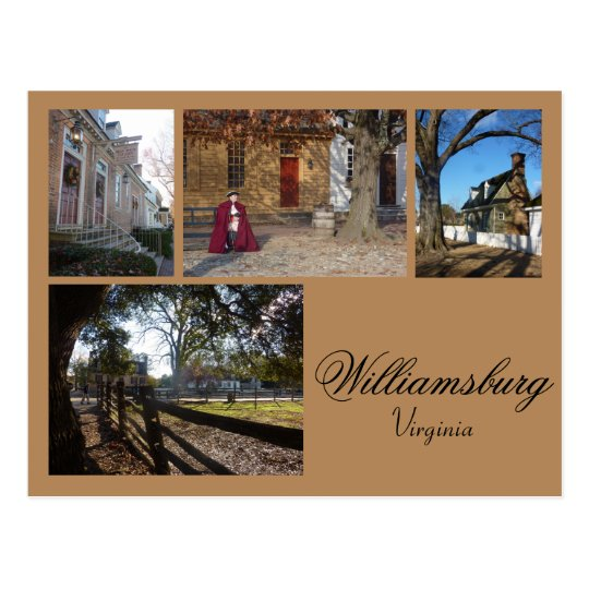 Williamsburg (Virginia) Collage 1 Postcard