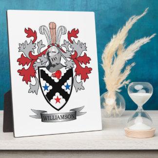 Williamson Family Crest Coat of Arms Plaque