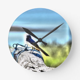 WILLIE WAGTAIL AUSTRALIA WITH ART EFFECTS CLOCKS
