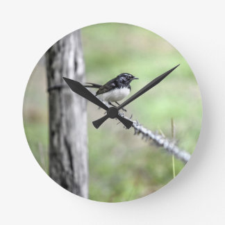 WILLIE WAGTAIL QUEENSLAND AUSTRALIA CLOCK