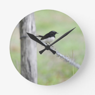 WILLIE WAGTAIL QUEENSLAND AUSTRALIA WALLCLOCKS