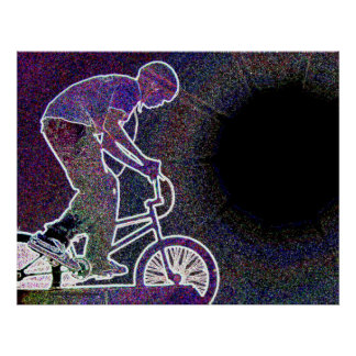 WillieBMX The Glowing Edge Poster