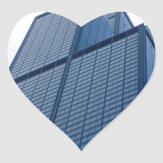 willis tower heart sticker