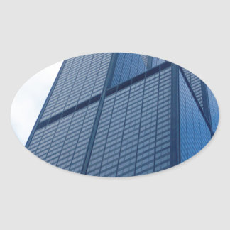 willis tower oval sticker