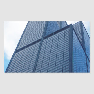 willis tower rectangular sticker