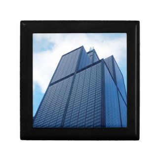 willis tower small square gift box