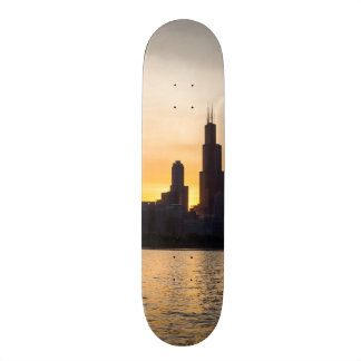 Willis Tower Sunset Sihouette 19.7 Cm Skateboard Deck