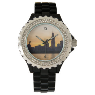 Willis Tower Sunset Sihouette Watches