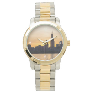 Willis Tower Sunset Sihouette Wristwatch